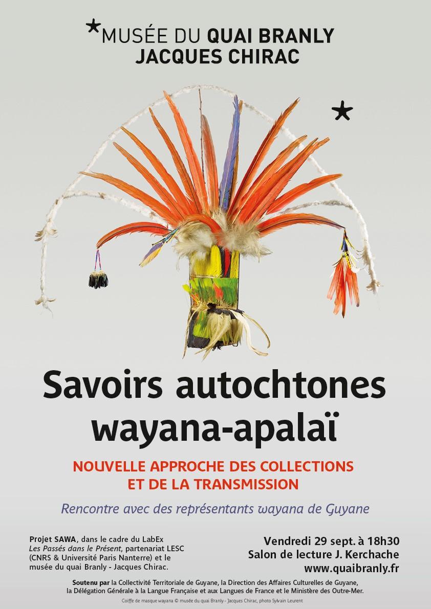 Affiche de la table-ronde du 29 septembre 2017 au musée du quai Branly - Jacques Chirac