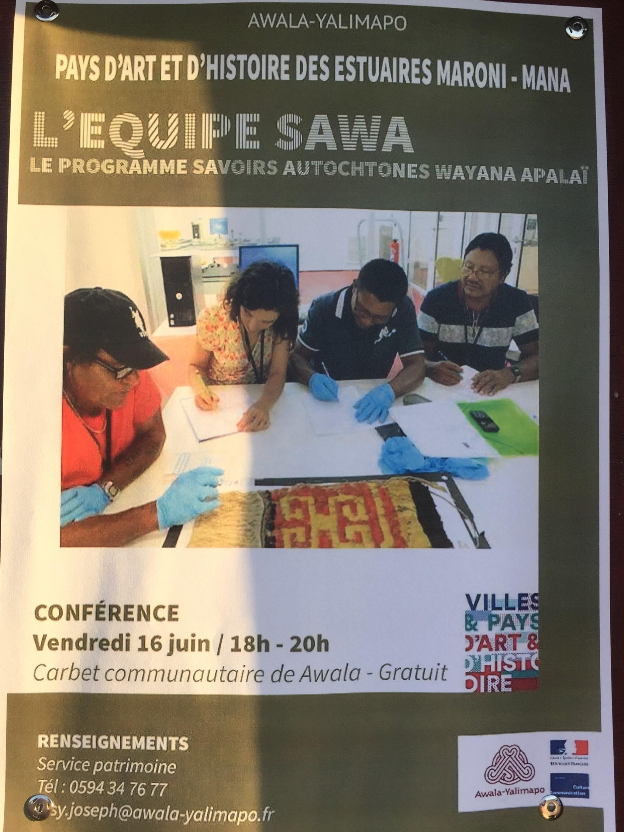 Affiche de la conférence du 16 juin 2017 à Awala (Guyane française)